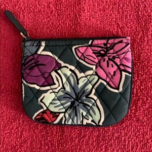Vera Bradley Coin Purse in Falling Flowers